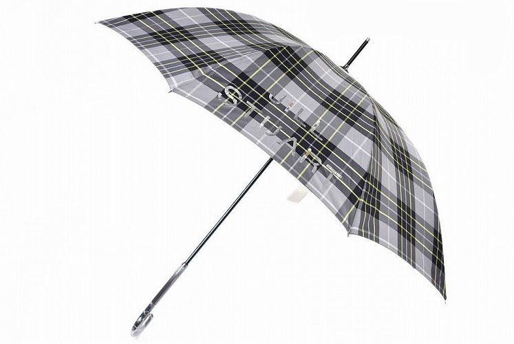 プレゼント ギフト おしゃれ 新品 ジル 市場 スチュアート 特価品コーナー☆ 雨傘 長傘 傘 レディース ブランド デザイン ビジュー チェック 60cm ロゴ JILLSTUART あす楽 女性 婦人 グレー