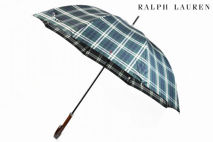 爆売りセール開催中 おしゃれ プレゼント ギフト 新品 父の日 父の日ギフト ポロ ラルフローレン 雨傘 傘 メンズ 65cm 紳士 割引も実施中 Ralph デザイン長傘 56830 男性 チェック Lauren グリーン系 ブランド