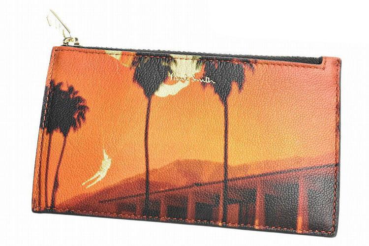 ポールスミス コイン カード ケース レディース ブランド Paul Smith PALSフォト 専用箱付 オレンジ   女性 婦人 本革 PWV393 【あす楽】
