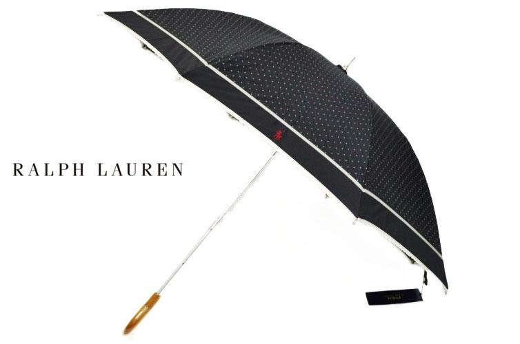 ラルフローレン 日傘 傘 レディース Ralph Lauren ドット と ピコレース 1級 遮光 黒 ブラック   女性 ブランド UVカット 晴雨兼用 長傘 かわいい 母の日 ギフト 【あす楽】