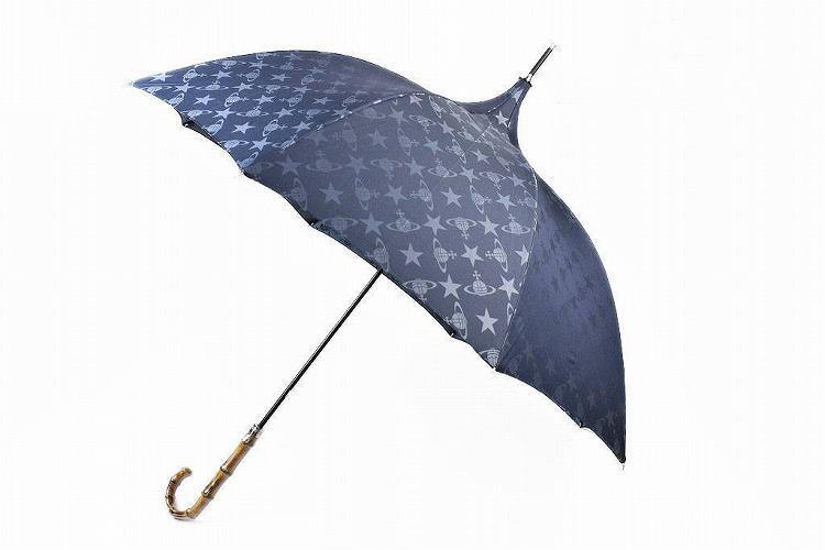 ヴィヴィアン ウエストウッド 長傘 傘 レディース ブランド Vivienne Westwood スター & オーブ 58cm ネイビー 女性 婦人 【あす楽】