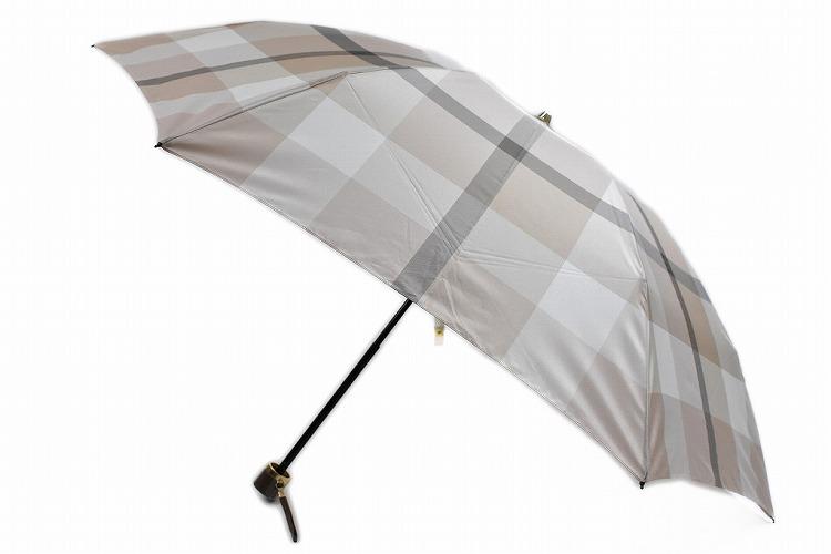 ブルーレーベル クレストブリッジ 雨傘 折りたたみ傘 レディース ブランド BLUELABEL CRESTBRIDGE 傘 日本製 チェックデザイン 55cm ベージュ 系 | 女性 婦人【あす楽】