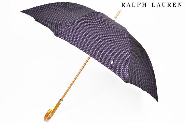 ポロ ラルフローレン 雨傘 長傘 傘 メンズ ブランド POLO Ralph Lauren チェック 65cm 紺 赤 ネイビー レッド 男性 紳士 【あす楽】