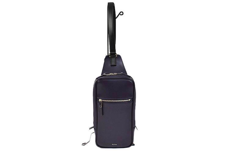 ポールスミス バッグ ボディバッグ メンズ Paul Smith シティエンボス 紺 ネイビー系   ブランド 男性 鞄 革 斜め掛け 父の日 ギフト 送料無料 PSN220【あす楽】