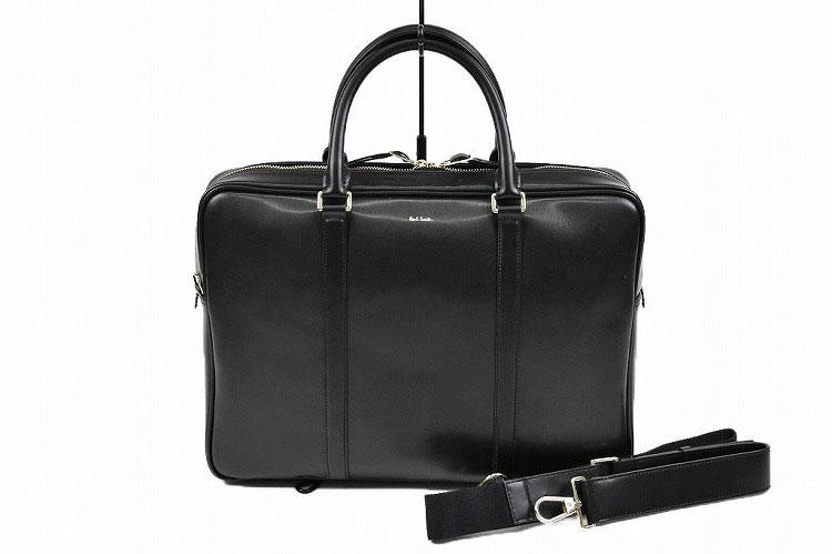 送料無料 ポールスミス ビジネスバッグ バッグ Paul Smith メンズ シティエンボス レザー ブラック 黒 | PSN223 ブランド男性 紳士 本革 出張 カジュアル 父の日 【あす楽】