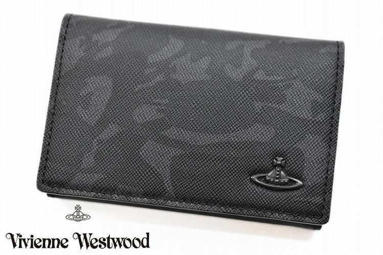 ヴィヴィアン ウエストウッド カードケース メンズ ブランド Vivienne Westwood ウォーター ORB 専用箱付 グレー   男性 紳士 VWK252 【あす楽】
