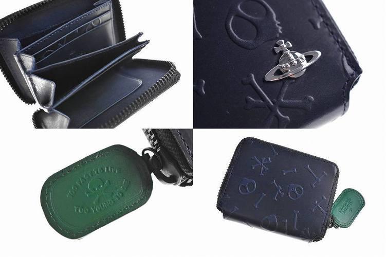3ad3878974a5 ブランド, Vivienne Westwood ヴィヴィアン ウエストウッド (メンズ). 商品説明, スカルボーン ラウンドファスナー 財布。