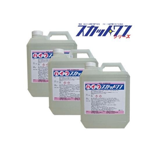 排水管洗浄剤 パイプスカットワン(4L×3本)