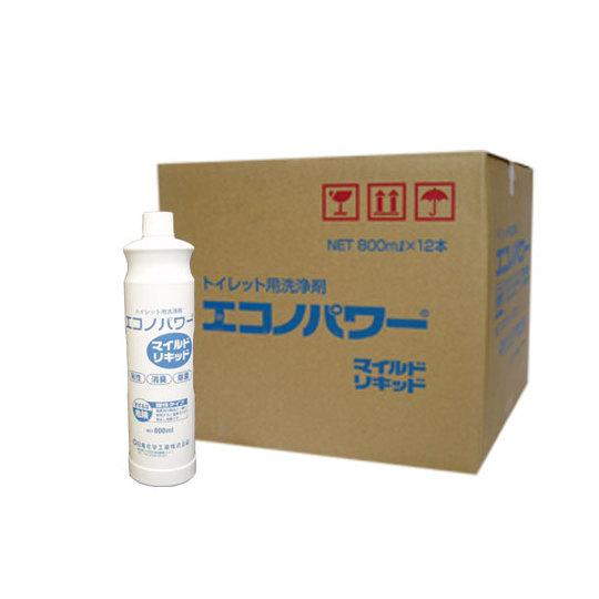 ハイクオリティ プロ愛用の酸性トイレクリーナー 除菌 消臭効果 800ml×12本 ケース 発売モデル エコノパワーマイルドリキッド