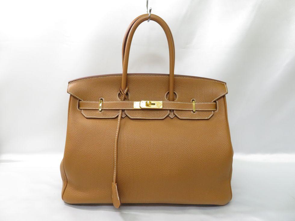 【新着】エルメス バーキン35 トゴ ゴールド ゴールド金具 □N刻印 ハンドバッグ【池袋店】【中古】