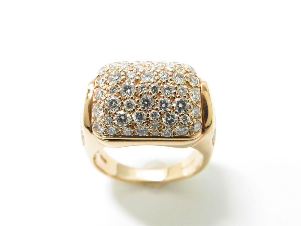 【新着】ブルガリ AN856889 750RG メレダイヤモンド ミューザ #10 リング【池袋店】【中古】