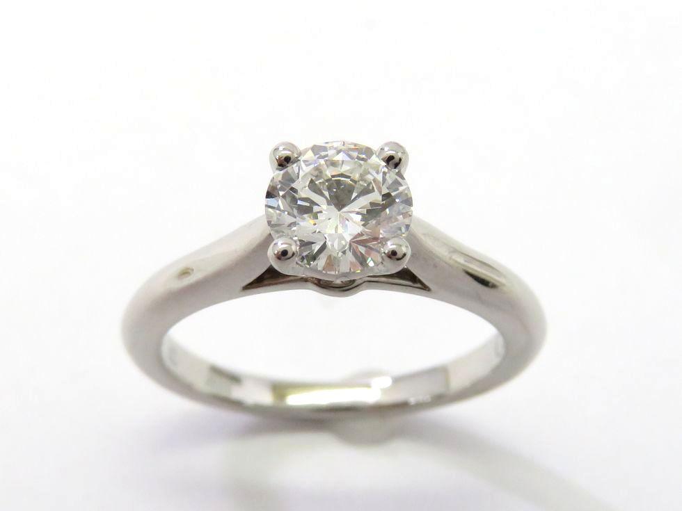 【新着】カルティエ N4163649 Pt950 ダイヤモンド0.70ct(G.VVS-1.VG) ソリテール1895 リング #49【池袋店】【中古】