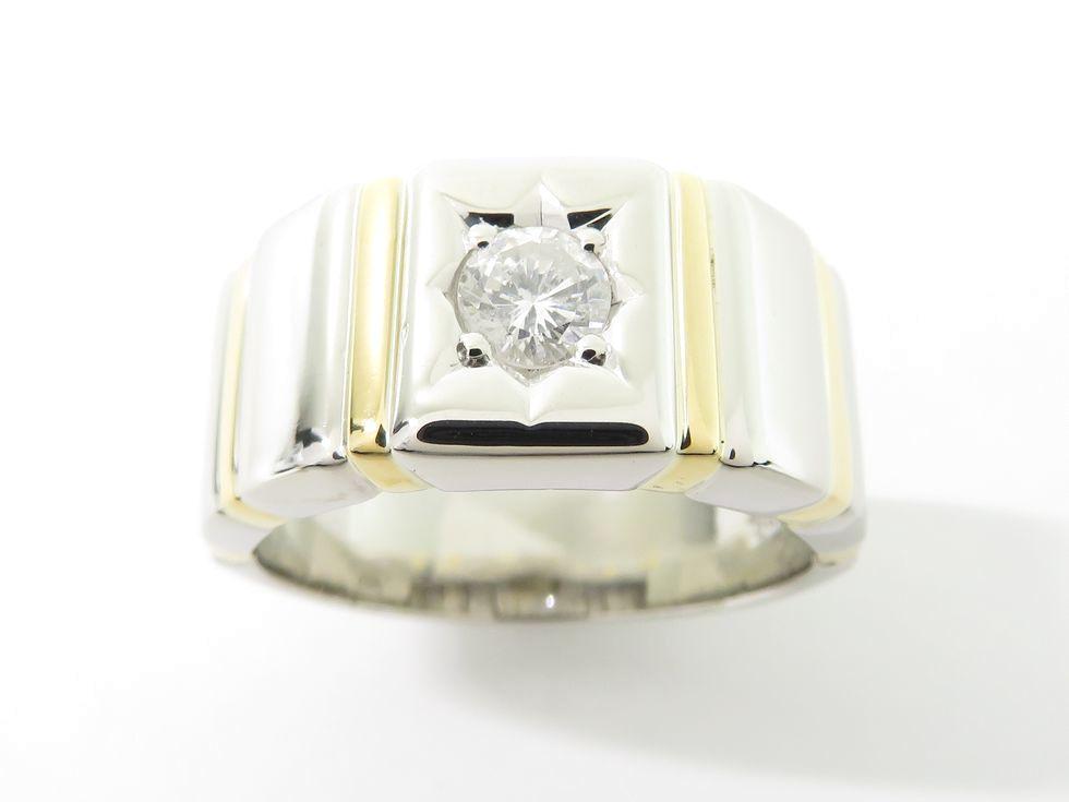 K18YG/Pt900 ダイヤモンド 0.40ct リング #21.5 【池袋店】【中古】