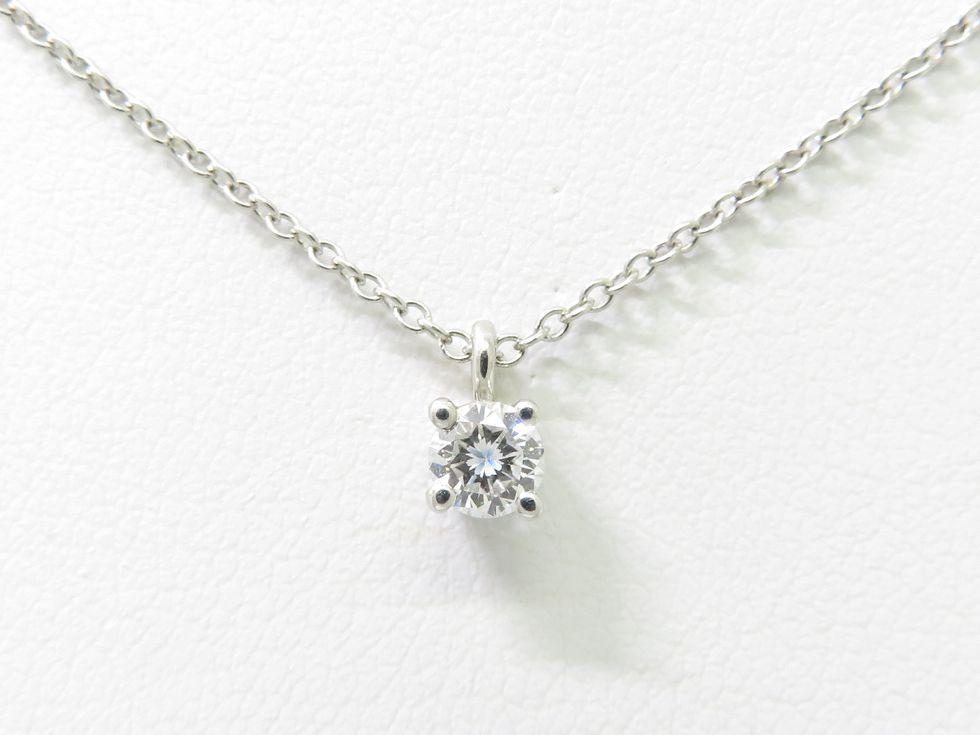 【新着】ティファニー Pt950 ダイヤモンド 1ヶ ソリティア ネックレス【池袋店】【中古】