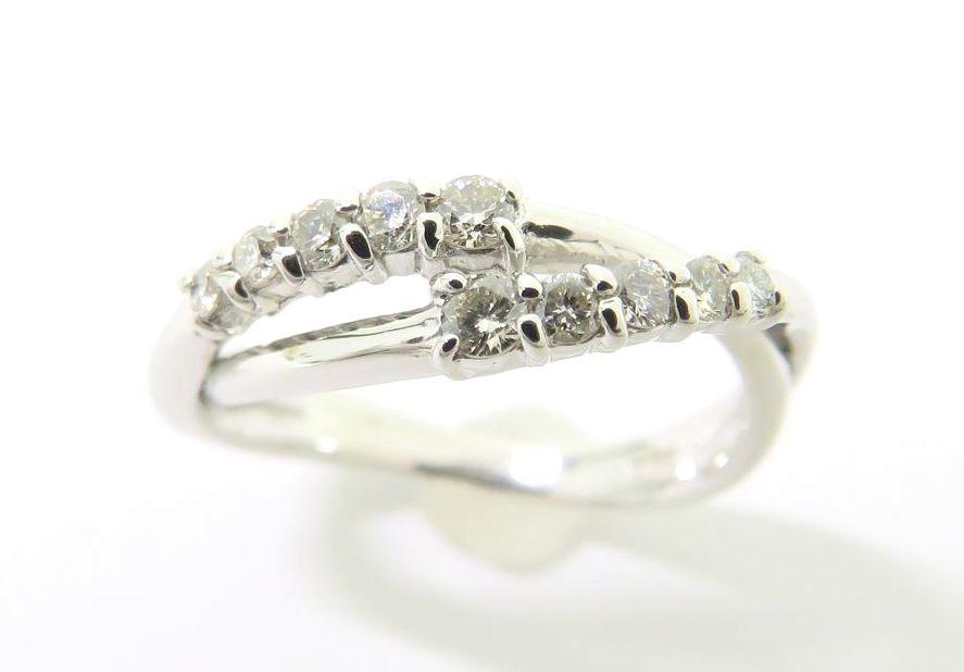 K18WG ダイヤモンド0.20ct リング #4【池袋店】【中古】