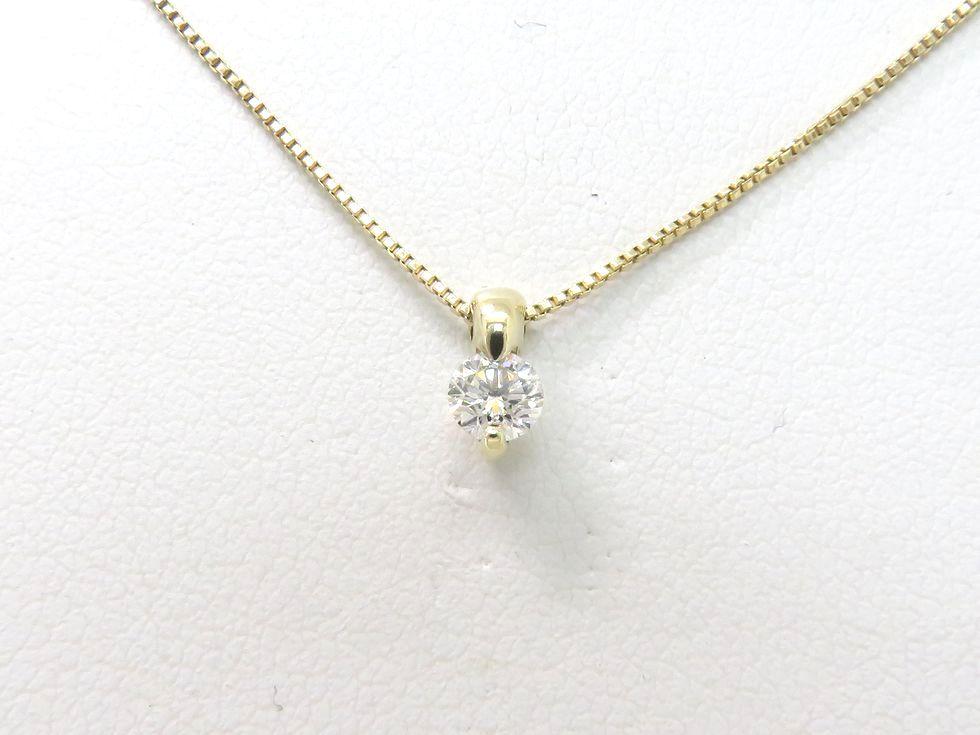 【新着】K18YG ダイヤモンド 0.20ct ネックレス【池袋店】【中古】