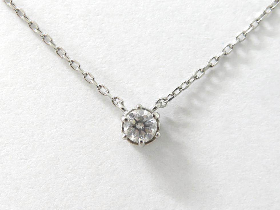 国産品 Pt850 ダイヤモンド0.01ct 日本 ネックレス 池袋店 中古