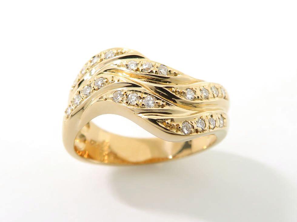 SIERRA LEONE 新着 セラリオン K18PG #11 池袋店 奉呈 リング ダイヤモンド0.22ct 在庫処分 中古