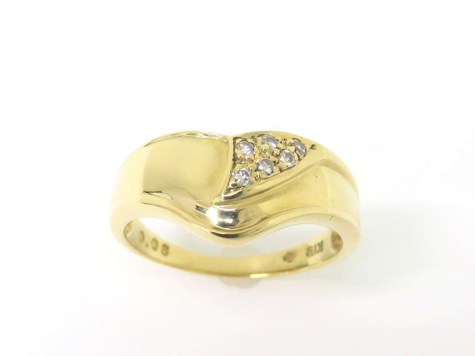 【新着】K18YG ダイヤモンド0.06ct リング #11 【池袋店】【中古】