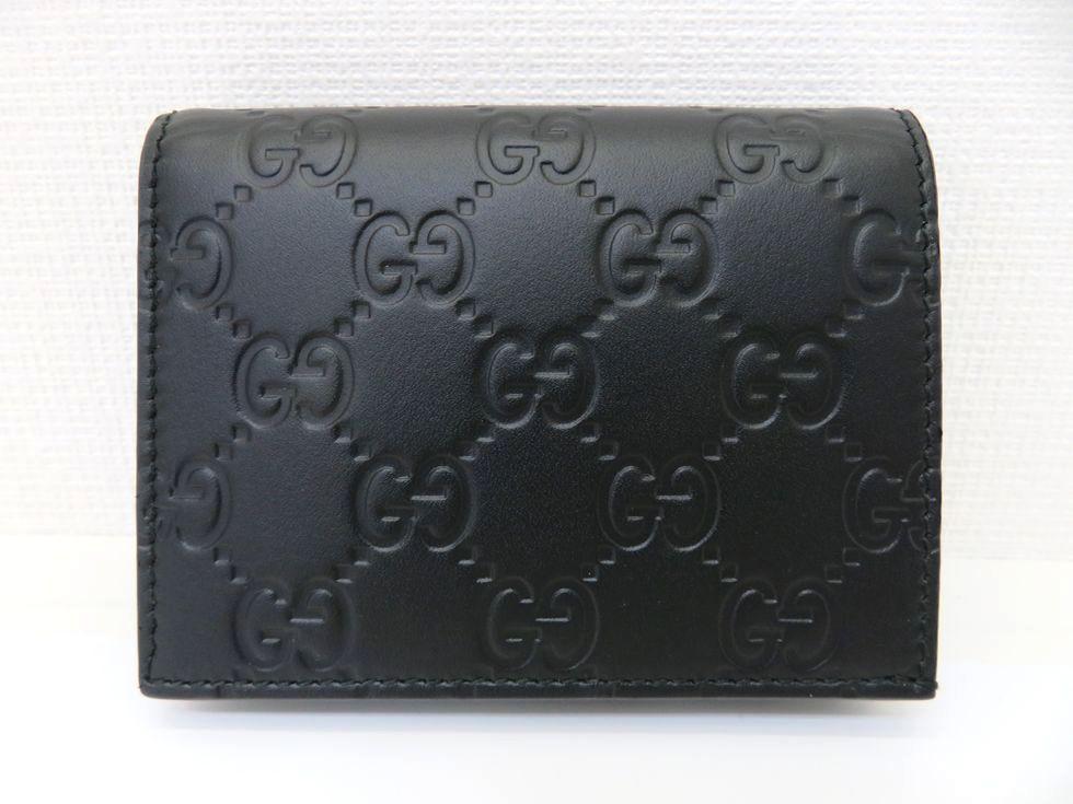 グッチ 410120 CWCIG 1000 グッチシマ ブラック カードケース 【池袋店】【中古】