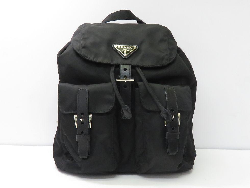PRADA プラダ 高級 BZ6677 ナイロンxレザー バックパック 買取 中古 ブラック 池袋店