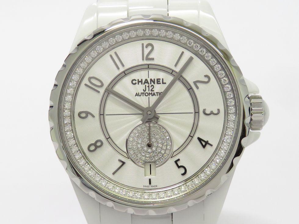 【新着】シャネル H3841 J12 ホワイトセラミック パヴェダイヤモンド 自動巻き ボーイズ 時計【池袋店】 【中古】