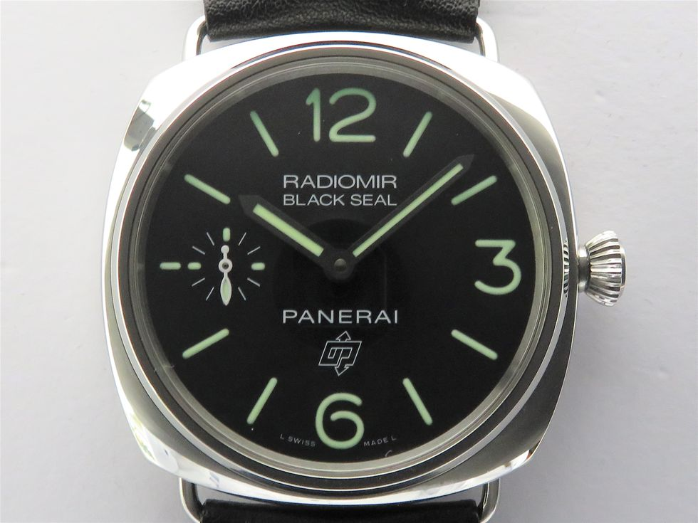 パネライ PAM00380 ラジオミールブラックシール ロゴ S番 SS 手巻き メンズ時計【池袋店】【中古】