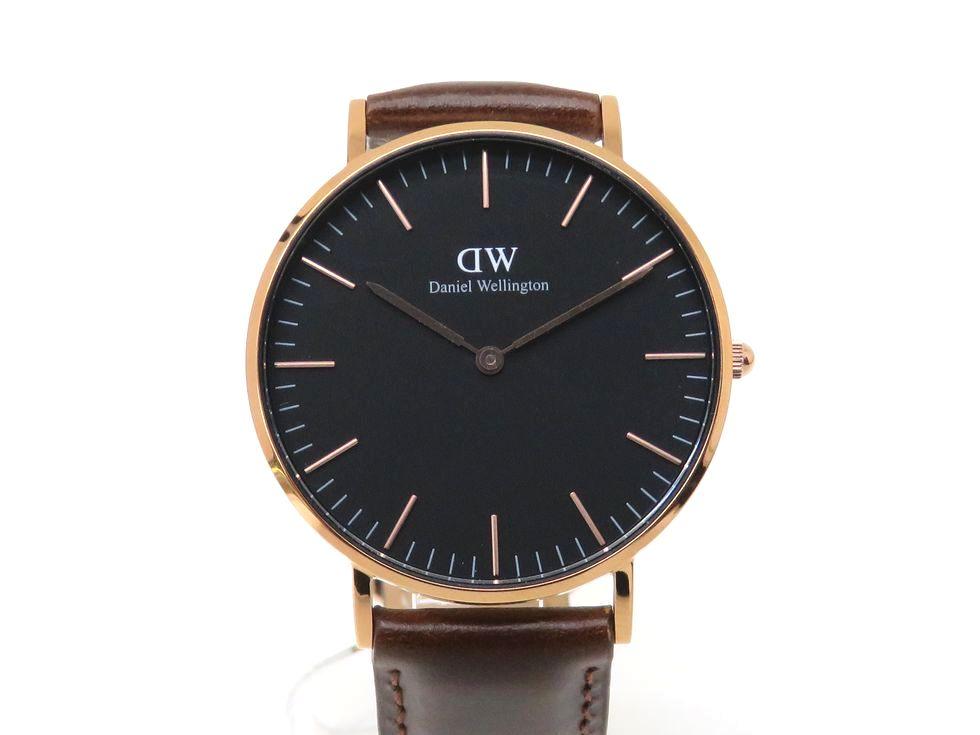 ダニエル・ウェリントン DW00100137 SS 革ベルト クォーツ メンズ 時計【池袋店】【中古】