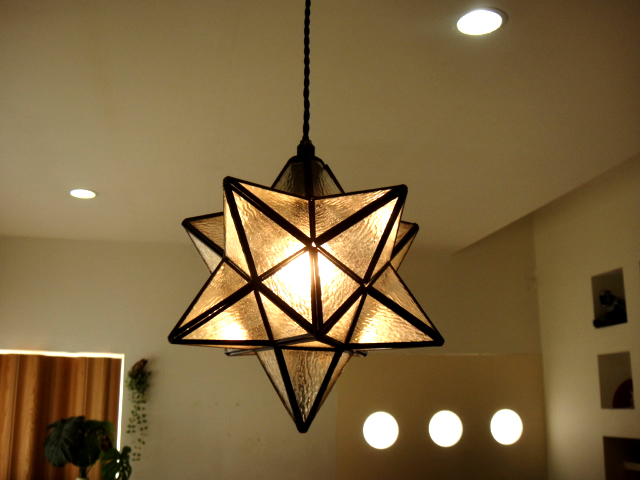 Star Shaped Pendant Lamp Clear Le