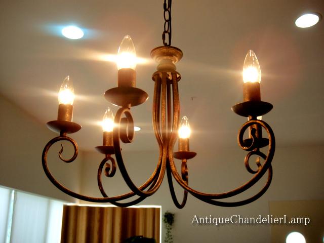 Selectstore Nice Chandelier Cheap Antique 6 Lights Minimalist