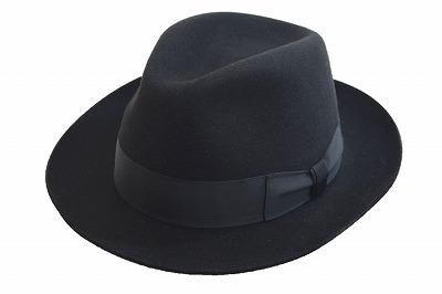 スタイルアップできる中折帽子 MAYSER マイサー 中折 1531036 ブラック 黒 帽子 メンズ 紳士 ハット 大きいサイズ ウール フェルト ファッション オシャレ カジュアル フォーマル インポート 直輸入 スロバキア製 送料無料 ネット通販