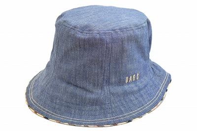 オールシーズンOK DAKS ダックス D6009 ネイビー 紺 帽子 レディース 婦人 綿100% コットン デニム UV加工 紫外線対策 日よけ 定番 人気 ファッション カジュアル オシャレ 旅行 アウトドア 山ガール ウォーキング 日本製 ネット通販 オールシーズン