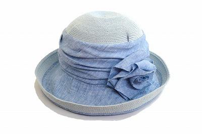 帽子の王道ブランド GREVI グレヴィ 天然 帽子 レディース IZ255 ブルー 婦人 ハット ファッション オシャレ エレガント イタリア製 フィレンツェ インポート 直輸入 UVケア 日よけ 折りたためる つば広帽子 送料無料 ネット通販 春夏