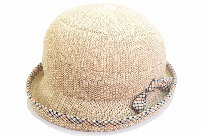 夏らしいサーモニット素材 DAKS ダックス D9117 ベージュ 帽子 レディース 婦人 ハット サーモニット セーラー 涼しい帽子 紫外線対策 日除け UVケア ファッション カジュアル おしゃれ プレゼント 母の日 敬老の日 ネット通販 日本製 送料無料 春夏