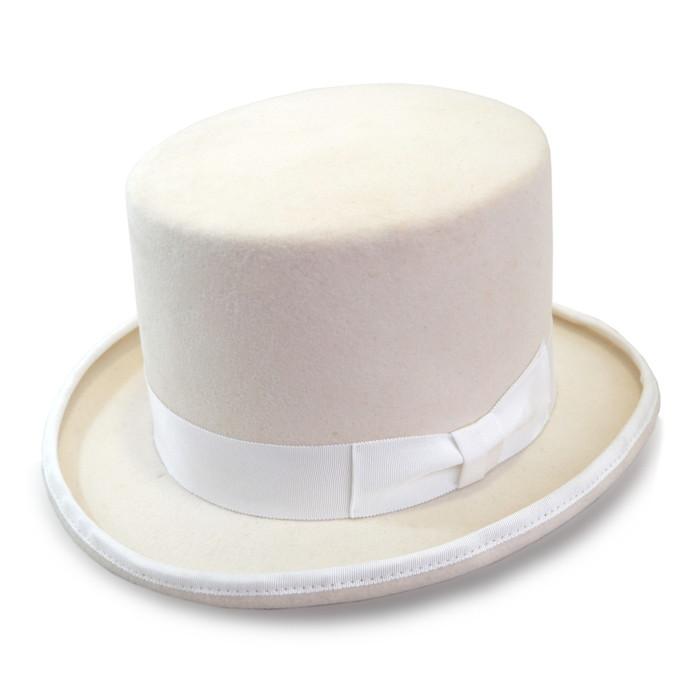 シルクハット 162666508 白×白 ホワイト 帽子 ハット メンズ 紳士 レディース 婦人 ユニセックス 大きいサイズ 高級 コスプレ 仮装 マジック 舞台 衣装 ハロウィン 手品 日本製 クリスマス プレゼント ラッピング無料 送料無料 ネット通販 秋冬