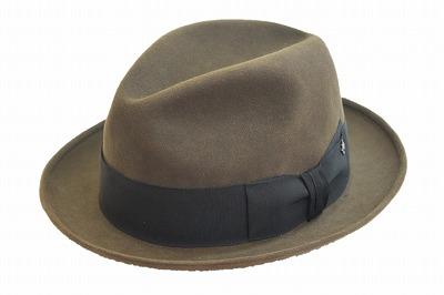 落ち着きのある大人のデザイン チロル 中折 ハット 帽子 メンズ ハット KI370 ブラウン (リボンブラック)KNOX ノックス 高級ファー 兎毛100% ファッション フォーマル エレガント クラシカル スーツ ジャケット カジュアル ネット通販 送料無料