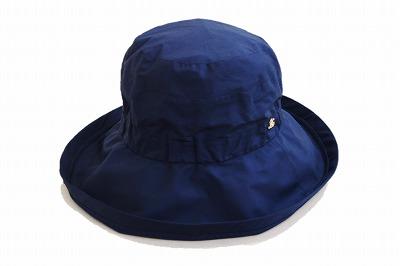 しっかりフィット♪ elite chapeau エリートシャポー つば広ハット 17004 ネイビー 紺 帽子 レディース 婦人 撥水加工 レインハット 晴雨兼用 日除け 紫外線対策 UV加工 旅行 カジュアル シンプル ネット通販 オールシーズン