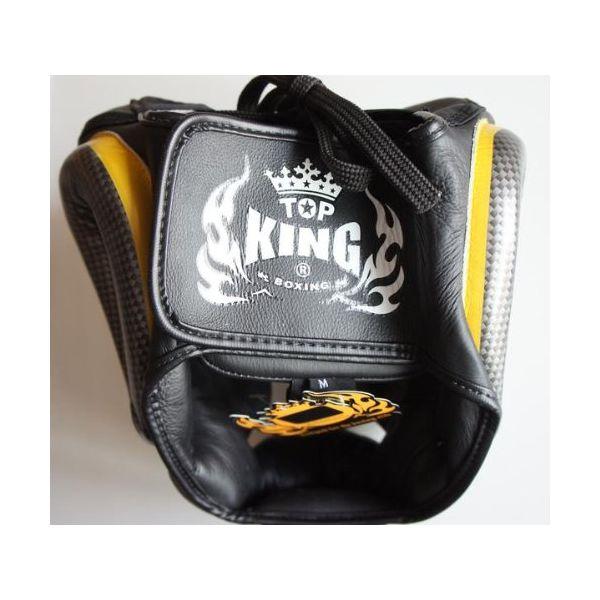 トップキング TOP KING キックボクシング ヘッドギア タトゥ 黒銀 Sサイズ