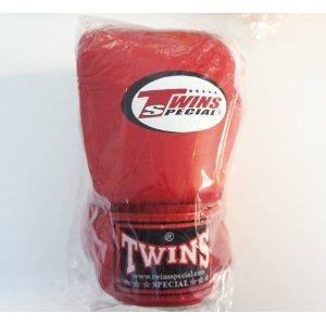 新 TWINS ツインズ 本革製キックボクシング グローブ 赤 12オンス