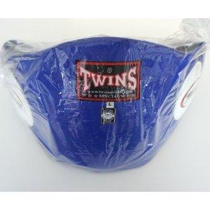 新 TWINS ツインズ 本革製 キックボクシング ボディープロテクター ボディーミット 青 Lサイズ