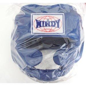 WINDY ウインディ 本革製 キックボクシング ヘッドギア ヘッドガード 青 Mサイズ