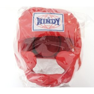 WINDY ウインディ 本革製 キックボクシング ヘッドギア ヘッドガード 赤 Lサイズ