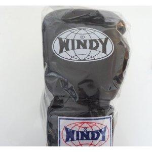 WINDY ウインディ 本革製キックボクシング グローブ 黒 16オンス