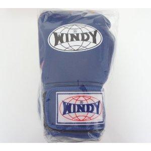WINDY ウインディ 本革製キックボクシング グローブ 青 14オンス