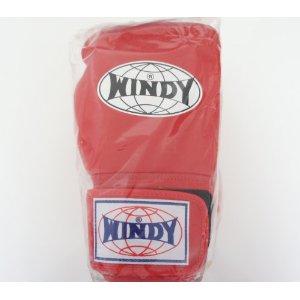 WINDY ウインディ 本革製キックボクシング グローブ 赤 14オンス