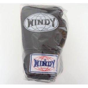 WINDY ウインディ 本革製キックボクシング グローブ 黒 8オンス