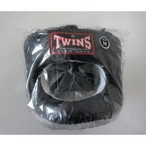新TWINS ツインズ 本革製 キックボクシング フルフェイス型 ヘッドギア ヘッドガード 黒 Mサイズ