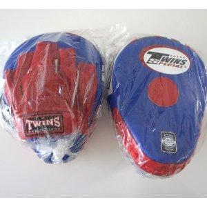 新TWINS ツインズ 本革製キックボクシング NEWパンチングミット 青赤