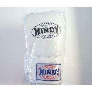 WINDY ウインディ 本革製キックボクシング グローブ 白 16オンス