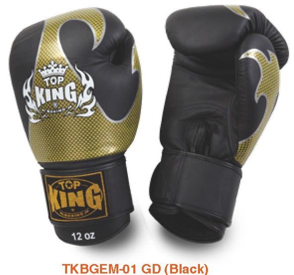 トップキング TOP KING キックボクシンググローブ タトゥ 金黒 14オンス